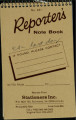 Reporter notebook, EAL last day, 1988-1991