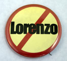 Anti-Lorenzo button, circa 1980s