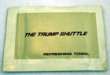 The Trump Shuttle moist towelette, circa 1980s