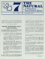 The Natural: A Newsletter from Council Seven, 1986-11