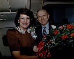 Frank Borman with Eastern Air Lines employee, circa 1980s