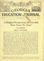 Georgia Education Journal, 1932-01