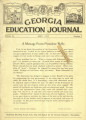 Georgia Education Journal, 1931-05
