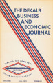 The DeKalb Business and Economic Journal, 1973, fall