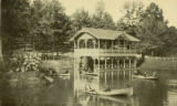 Boat House and Lake, 1907