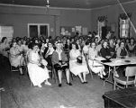 Tobacco workers meeting in their union hall, Charleston, S.C., circa 1950s