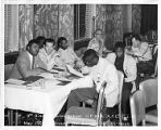 African American and White union members at United Furniture Workers of America and AFL-CIO 9th...