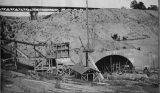 Railroad tunnel construction, C. J. French collection