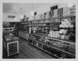 Interior and counter of a Pender's Grocery, June 1, 1935.