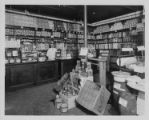Interior of a Pender's Grocery, circa 1937.