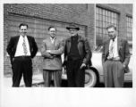 CIO officials at Tennessee Furniture Company election, Greenback, Tennessee, February 18, 1949.