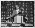 John Riffe at the podium at a Tennessee State CIO convention, Memphis, Tennessee, June 1954.