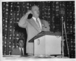 John Riffe speaking at a Tennessee State CIO convention, Memphis, Tennessee, June 1954.