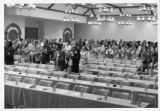 Audience applauding at Mississippi AFL-CIO convention, Jackson, Mississippi, 1976.
