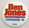 Ben Jones: Congress '90 [button], 1990