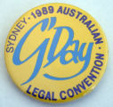G' Day [button], 1989