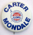Carter / Mondale - ILGWU [button], circa 1980s