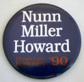 Nunn Miller Howard, Democratic Leadership '90 [button], 1990