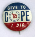 Give to COPE, I did [button], 1965