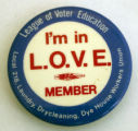 I'm in L.O.V.E. [button], circa 1970s