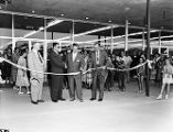 Ribbon cutting ceremony (unidentified building)