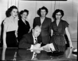 "Administrators of Cluett Peabody Company, Inc. Atlanta, Georgia, signing a ""Declaration of..."