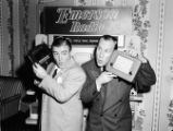 Comedians Abbott and Costello promoting Emerson Radio