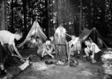 United Community and War Fund sponsored campers roasting marshmallows, Georgia, July 23, 1943.