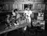 United Community and War Fund sponsored summer campers doing arts and crafts, Georgia, July 23,...