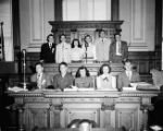 Youth group visit to Georgia State Capitol (Y.M.C.A.?), 1949