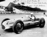 Bill Holland in race car, copy photograph commissioned by the Southeastern Fair Association,...