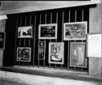 Window display of an art exhibition