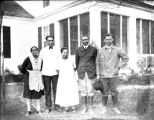 Household staff posing outside the main house, Ichauway Plantation, Baker County, Georgia, 1926.