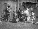 African American youth preparing to pick cotton, Pine Mountain, Georgia, 1934-1935.