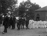 African Americans processing to a baptism.