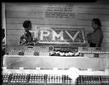 Egg stand at the Pine Mountain Valley festival, 1939