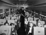 School childrens' train excursion to Griffin, 1947