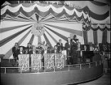 Charlie Barber Orchestra playing at the Southeastern Fair on WSB radio, 1940s