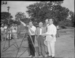 Works Progress Administration Project surveying team, 1938