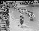 Mass adult baptism, 1940s