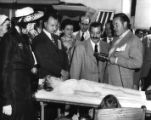 Cast of the Bob Hope Show (radio) at a children's hospital, Atlanta, Ga., ca. 1946, 3