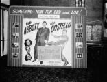 Movie theater lobby display (Abbott and Costello)
