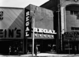 Exterior view of Regal Shoes and Stein Clothier stores on Peachtree Street at Auburn Avenue,...