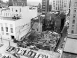 Building demolition,  Luckie Street and Fairlie Street looking  southeast;  Loew's Grand Theater...
