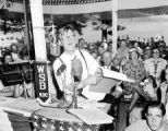 Governor Eugene Talmadge campaigning in Moultrie, Georgia, 1942