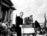 James V. Carmichael campaigning in Moultrie, Georgia, 1946
