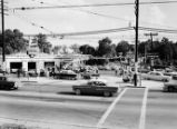 Grand opening of Standard Oil service station at Peachtree Street and Spring Street, Atlanta,...