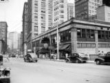 Exterior and street view of the Peachtree Arcade, Peachtree Street, Atlanta, Georgia, August 7,...