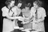 Agnes Scott College students with mail, Decatur, Georgia, September 1937.