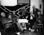 Confederate Veterans, Atlanta, listening to Franklin D. Roosevelt radio broadcast initiating the...